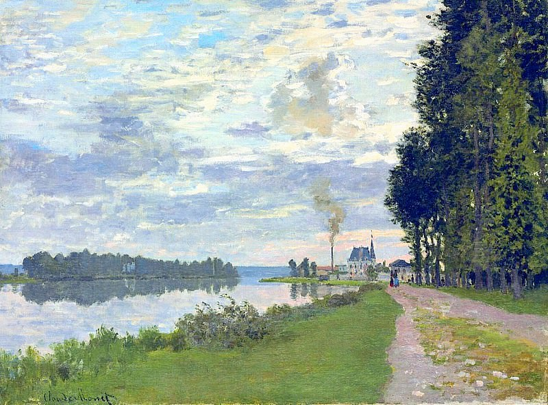 The Promenade at Argenteuil 02. Claude Oscar Monet