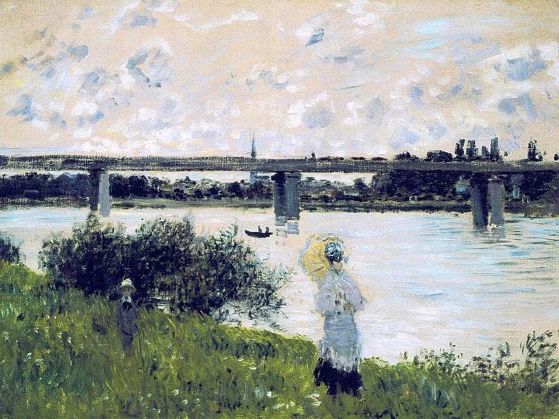 The Promenade near the Bridge of Argenteuil. Claude Oscar Monet