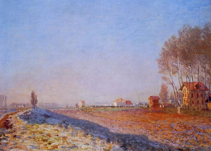 The Plain of Colombes, White Frost. Claude Oscar Monet