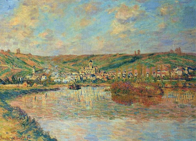 Late Afternoon in Vetheuil. Claude Oscar Monet
