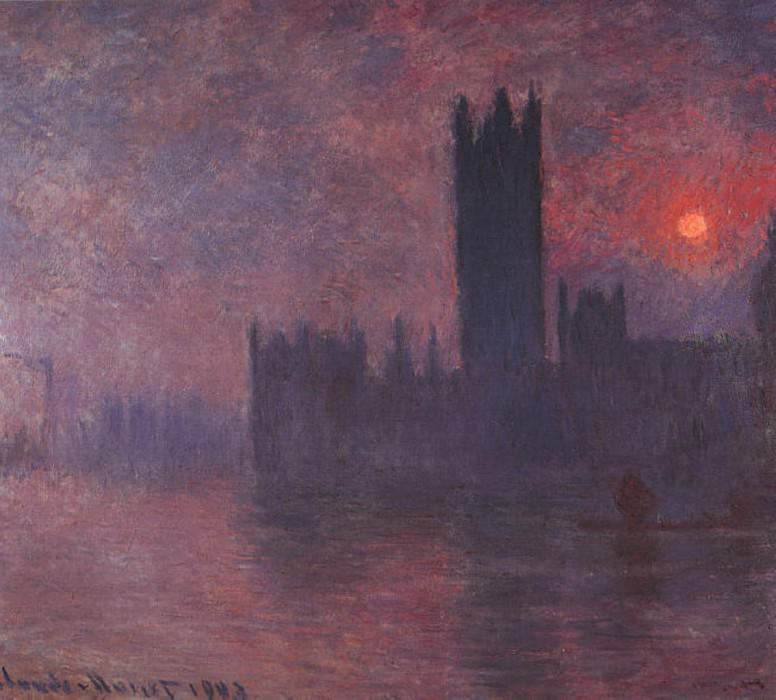 Houses of Parliament at Sunset. Claude Oscar Monet