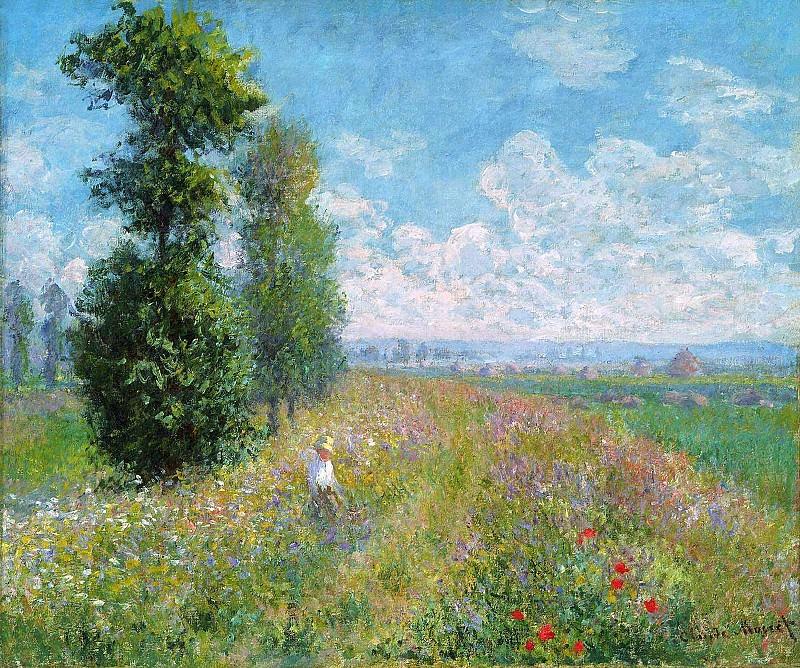 Meadow with Poplars. Claude Oscar Monet