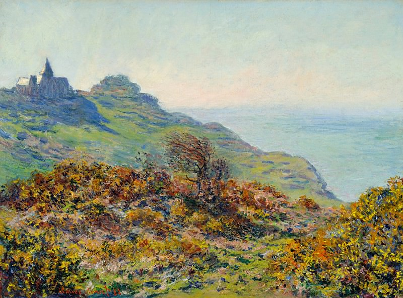 The Church at Varengeville and the Gorge of Les Moutiers. Claude Oscar Monet