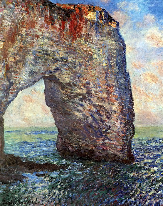 The Mannerport near Etretat. Claude Oscar Monet