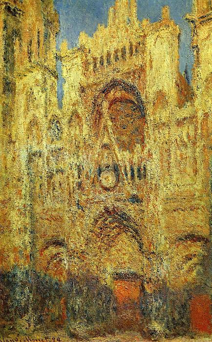 Rouen Cathedral at Sunset. Claude Oscar Monet