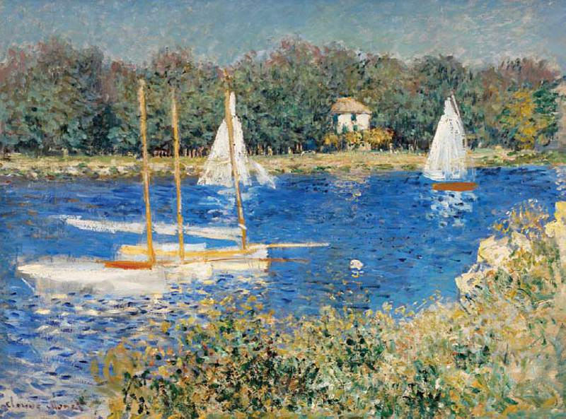 The Seine at Argenteuil. Клод Оскар Моне