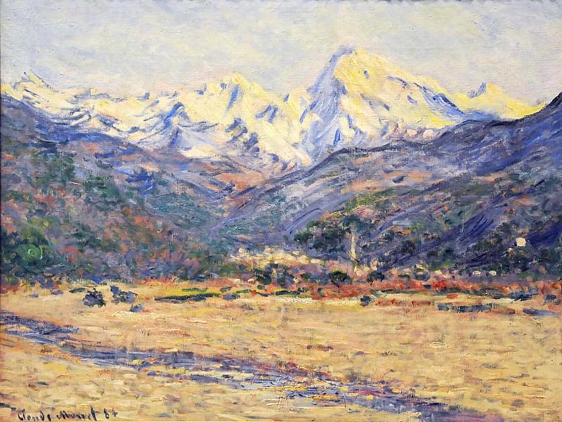 The Valley of the Nervia. Claude Oscar Monet