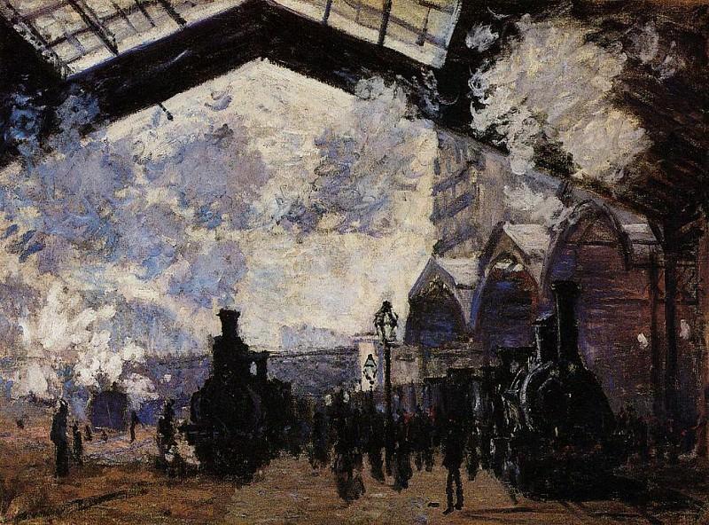 Saint-Lazare Station, Exterior View. Клод Оскар Моне