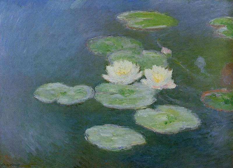 Water Lilies, Evening Effect. Claude Oscar Monet