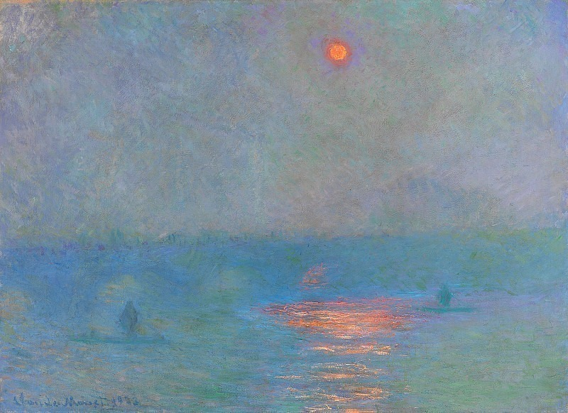 Waterloo Bridge, Sunlight in the Fog. Claude Oscar Monet