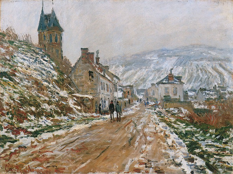 The Road in Vetheuil in Winter. Клод Оскар Моне