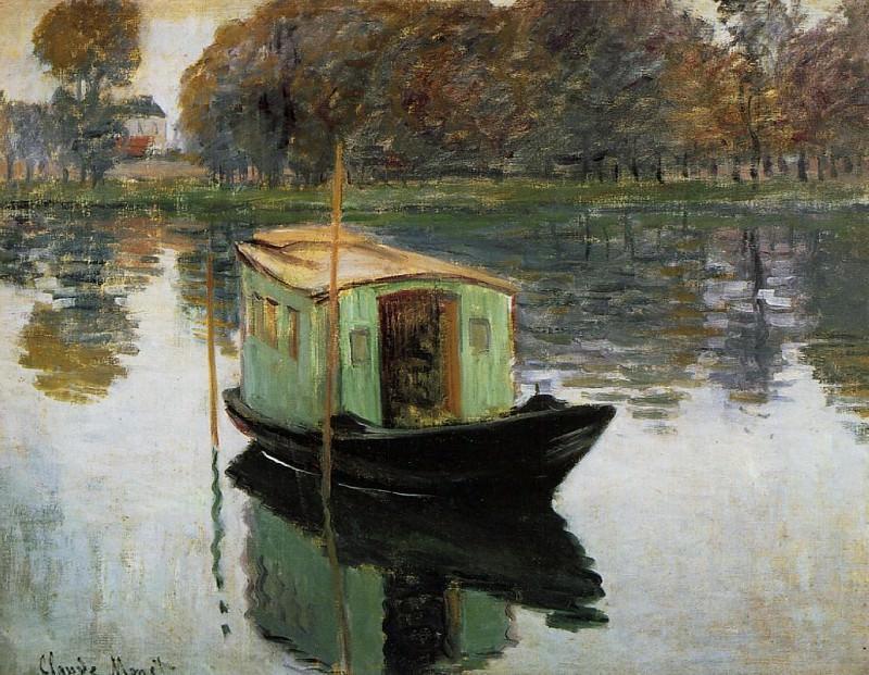 The Studio Boat. Claude Oscar Monet