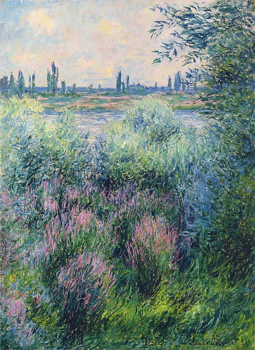 Spot on the Banks of the Seine. Claude Oscar Monet