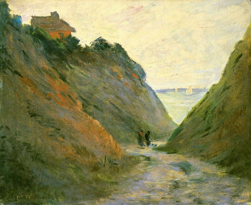 The Sunken Road in the Cliff at Varangeville. Claude Oscar Monet