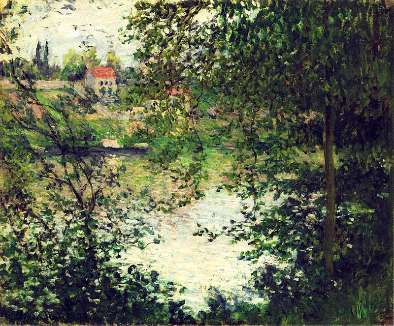 The Isle Grande-Jatte through the Poplars. Claude Oscar Monet