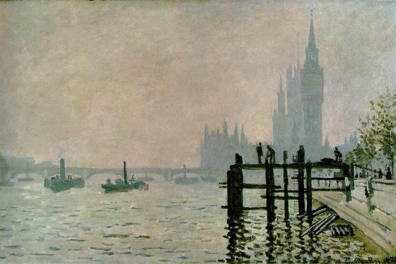 The Thames at Westminster. Claude Oscar Monet