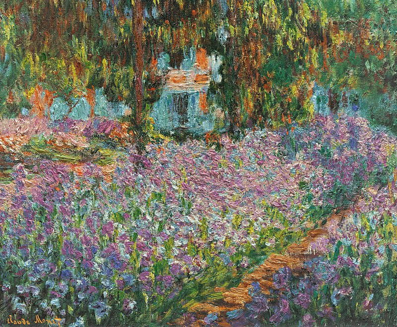 Irises in Monet's Garden 03. Claude Oscar Monet