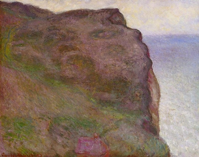 Cliff at Petit Ailly in Grey Weather. Claude Oscar Monet