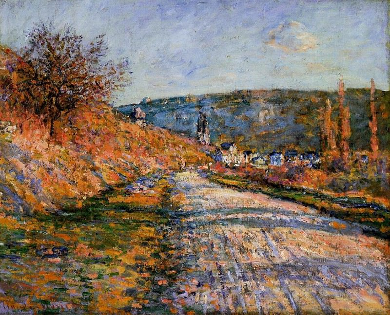 The Road to Vetheuil. Claude Oscar Monet