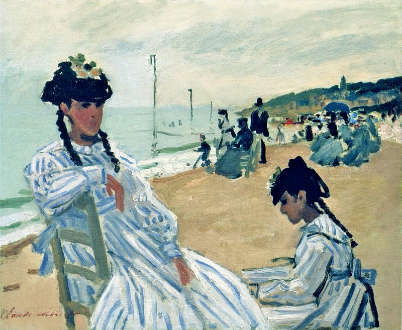 The Beach at Trouville. Claude Oscar Monet