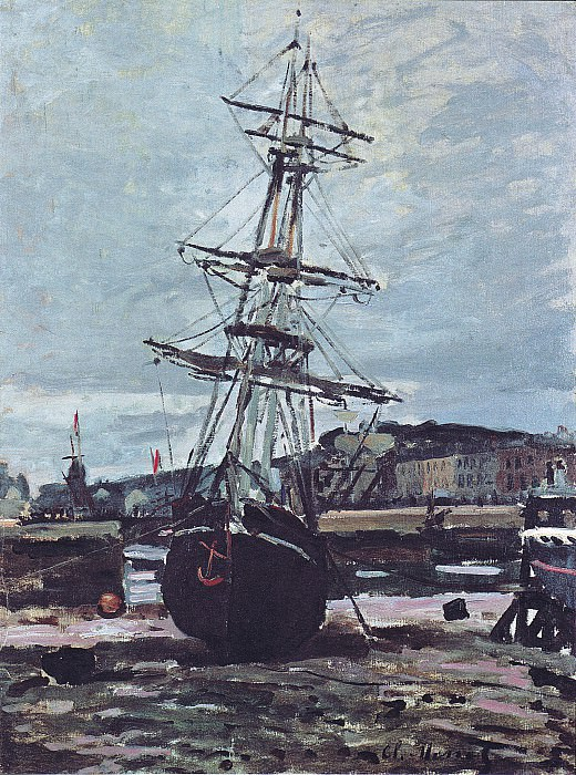 Gestrandetes Boot in Fecamp. Claude Oscar Monet