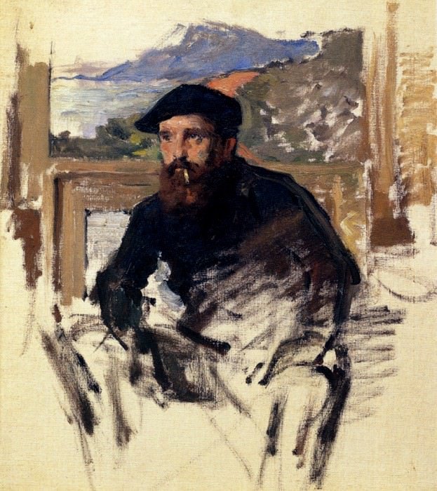 Self Portrait In His Atelier. Claude Oscar Monet