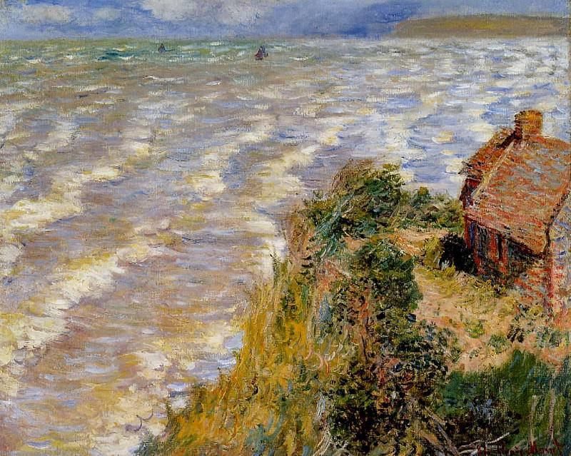 Rising Tide at Pourville. Claude Oscar Monet