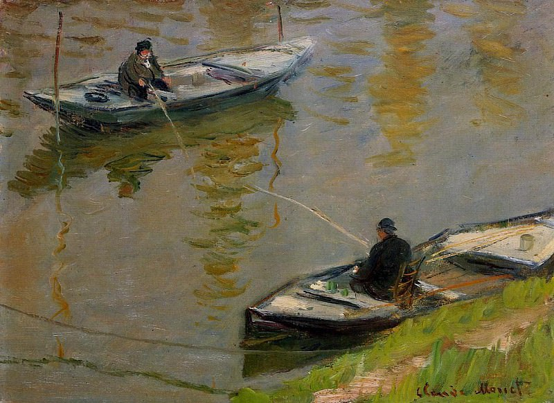 Two Anglers. Claude Oscar Monet