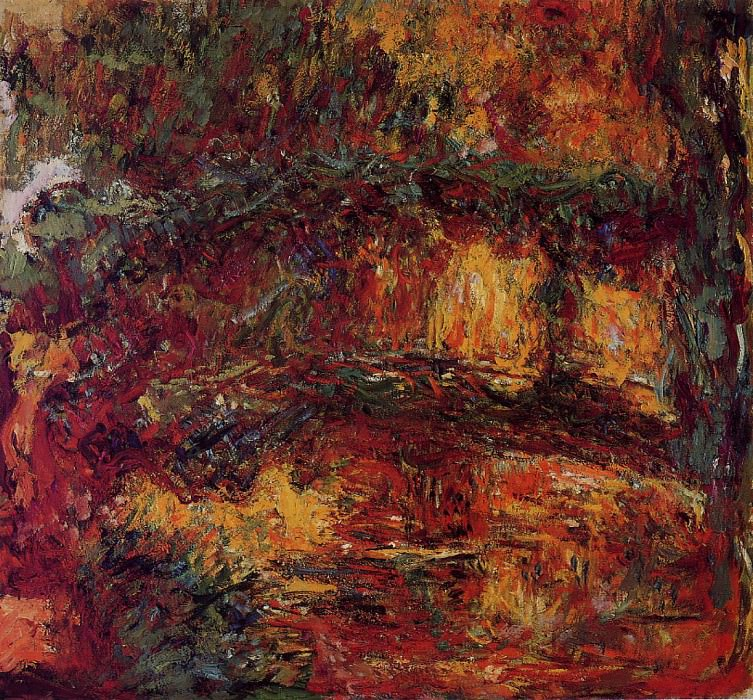 The Japanese Bridge at Giverny. Claude Oscar Monet