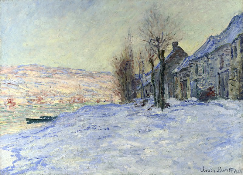 Lavacourt, Sun and Snow. Claude Oscar Monet