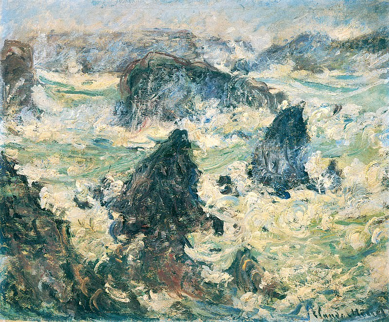 Storm on the Cote de Belle-Ile. Claude Oscar Monet