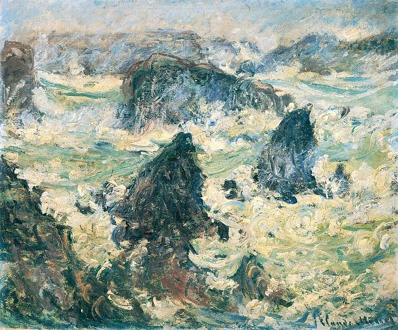 Storm on the Cote de Belle-Ile. Клод Оскар Моне