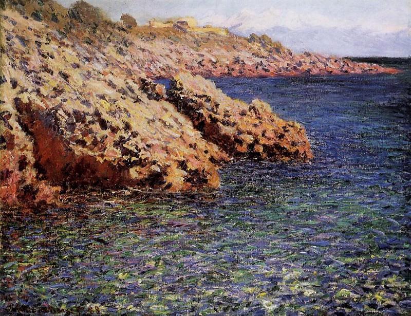 Rocks on the Mediterranean Coast. Claude Oscar Monet