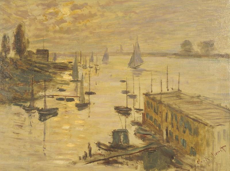 Le bassin d'Argenteuil vu depuis le pont. Claude Oscar Monet