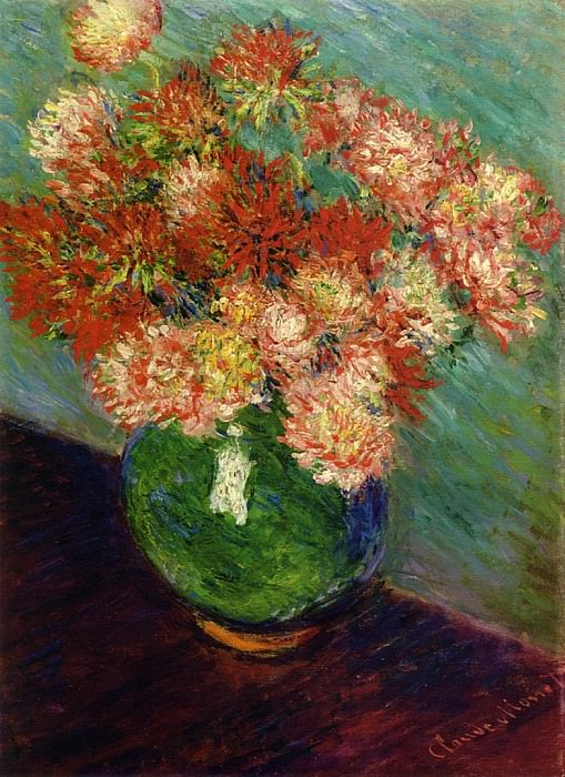 Vase of Chrysanthemums. Claude Oscar Monet