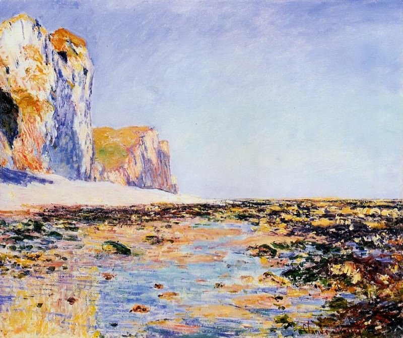 Beach and Cliffs at Pourville, Morning Effect. Claude Oscar Monet