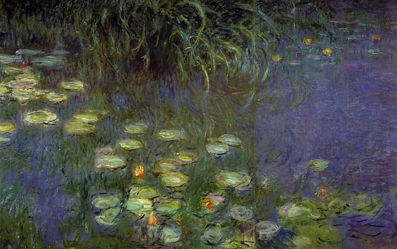 Water Lilies, Morning (left detail). Клод Оскар Моне