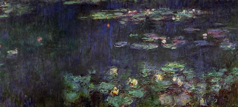 Water Lilies, Green Reflection (right half). Claude Oscar Monet