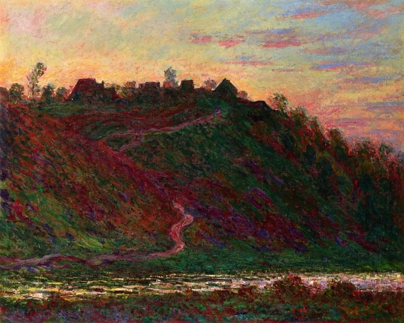 The Village of La Roche-Blond, Sunset. Claude Oscar Monet