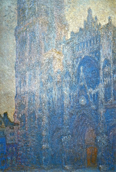 Rouen Cathedral, the Portal and the tour d'Albane, Morning Effect. Claude Oscar Monet