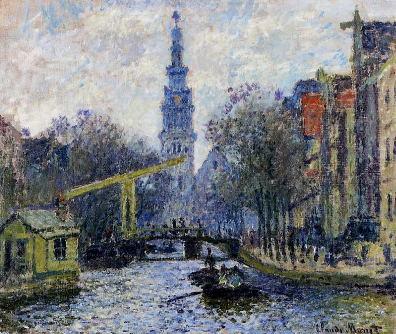 Canal in Amsterdam. Claude Oscar Monet