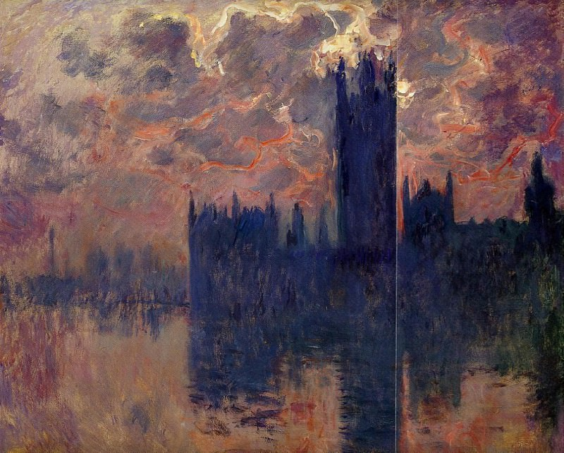 Houses of Parliament, Sunset (detail). Claude Oscar Monet