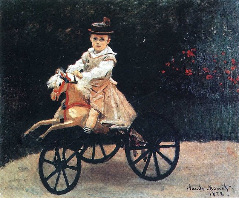 Jean Monet on a Mechanical Horse. Claude Oscar Monet