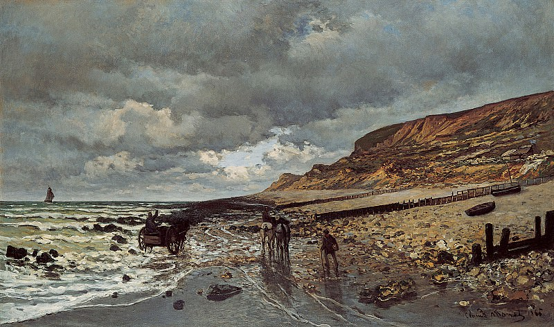 The Headland of the Heve at Low Tide. Claude Oscar Monet