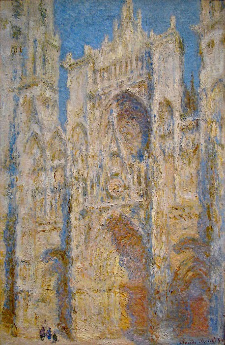 Rouen Cathedral, West Facade, Sunlight. Claude Oscar Monet