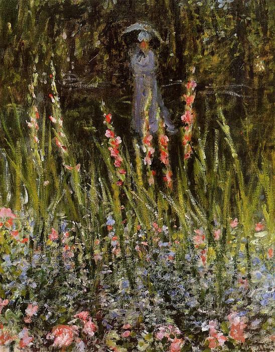 The Garden Gate at Vetheuil. Claude Oscar Monet
