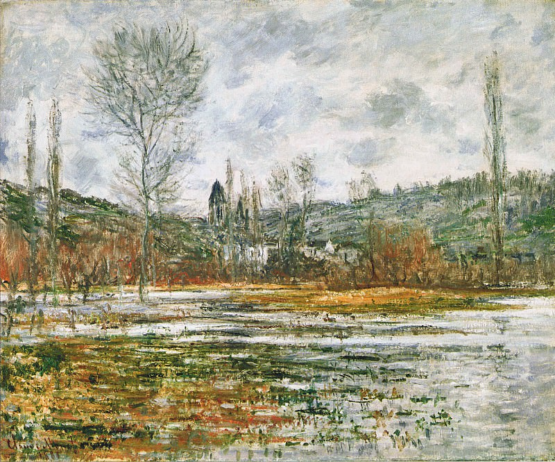 Vetheuil, Prairie Inondee. Claude Oscar Monet