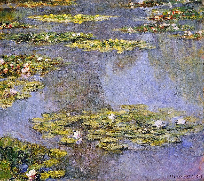 Water Lilies, 1905 01. Claude Oscar Monet