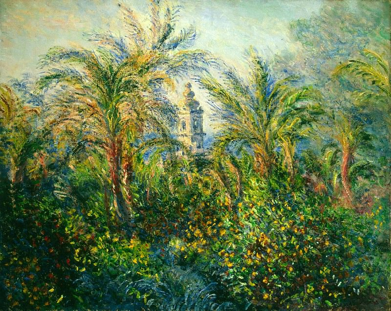 Garden in Bordighera, Morning Effect. Claude Oscar Monet