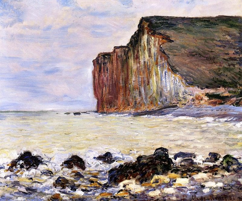 Cliffs of Les Petites-Dalles. Claude Oscar Monet
